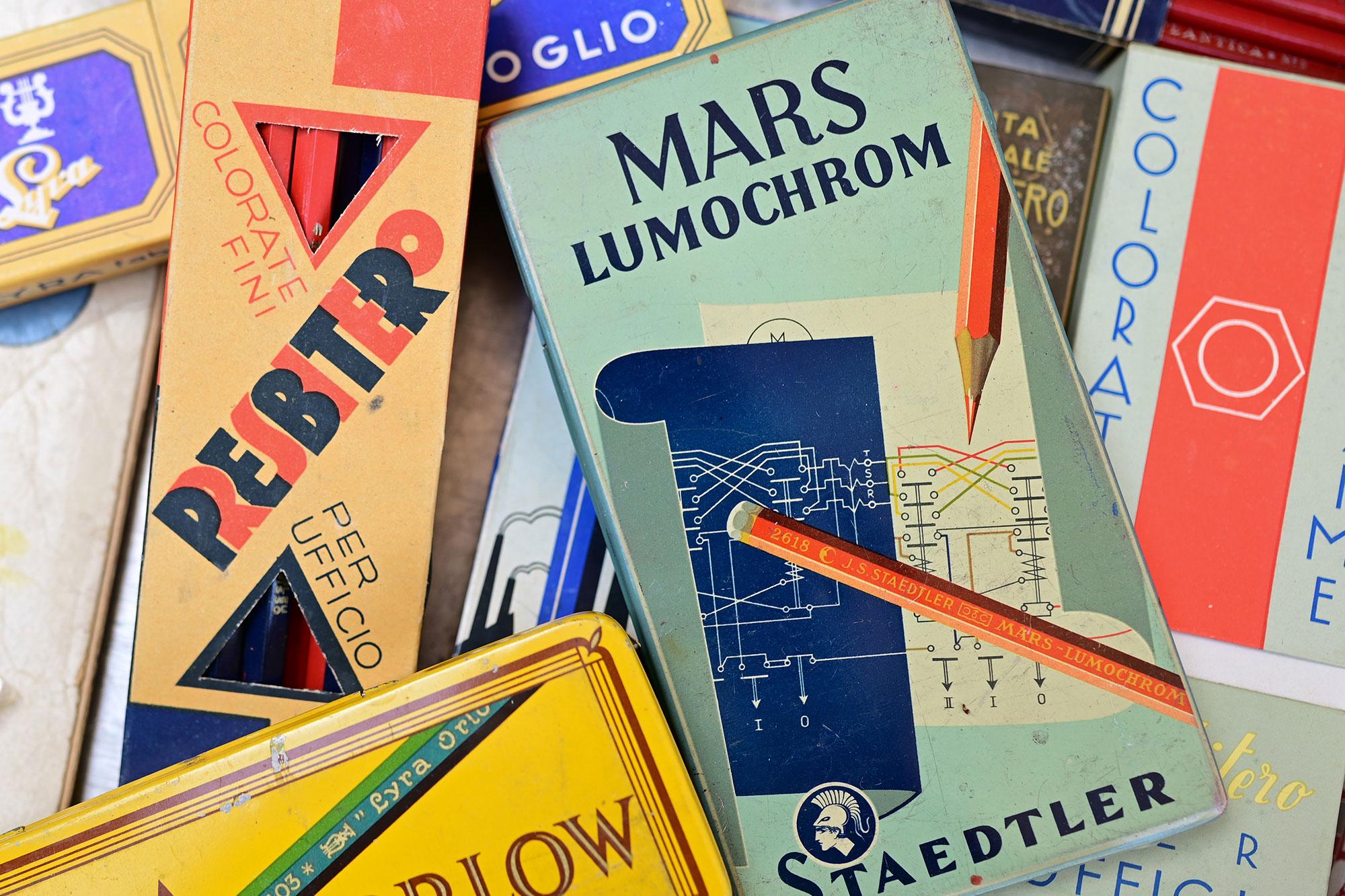 scatole matite vintage