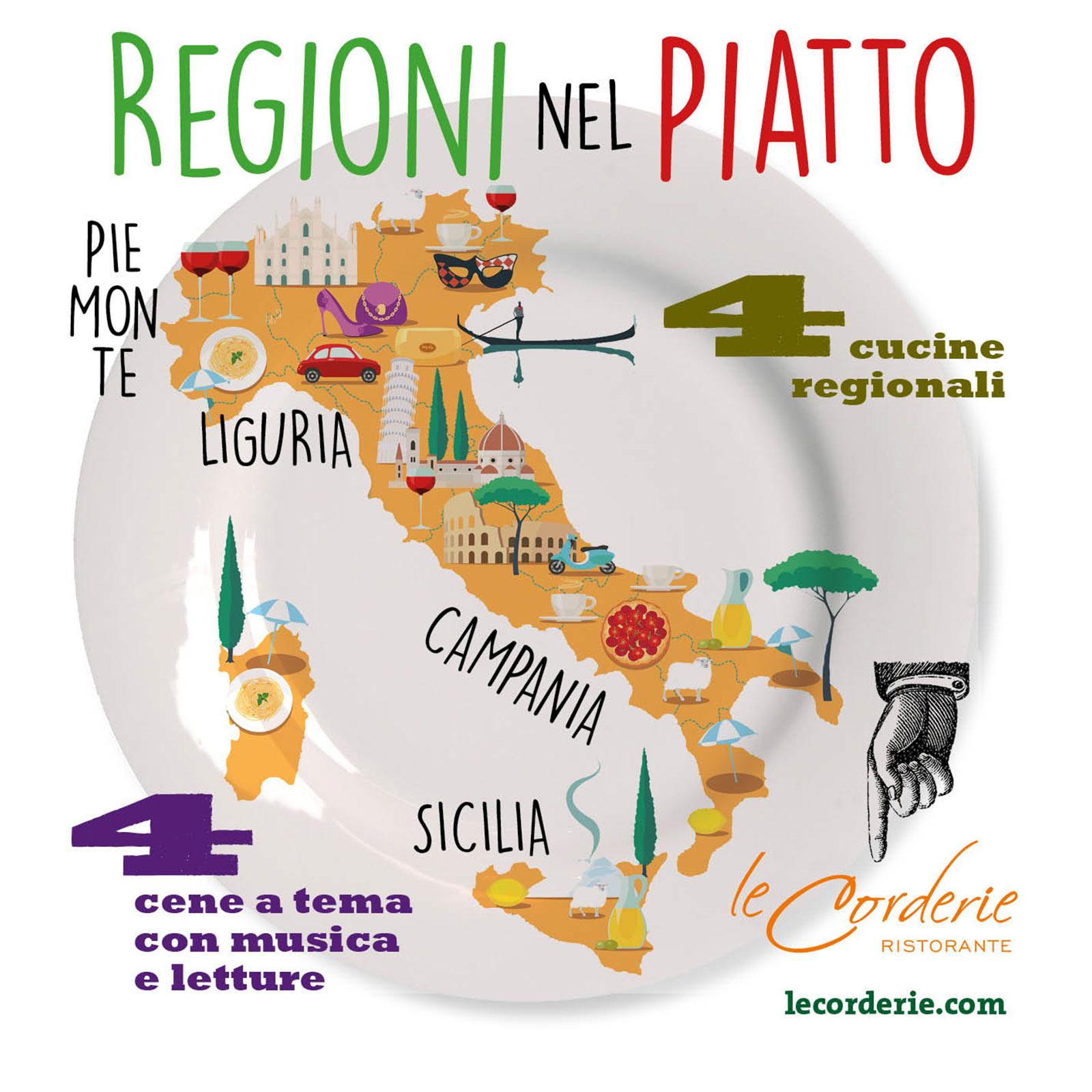 """flyer eventi """"Regioni nel piatto"""""""